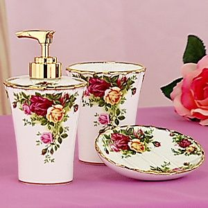 Royal Albert Old Country Roses 3-piece Sink Set at HSN.com