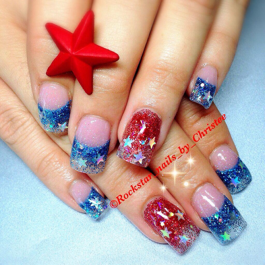 New Rockstar Acrylic Nail Designs: #rockstar_nails_by_christee #acrylics #acrylicnails #nails