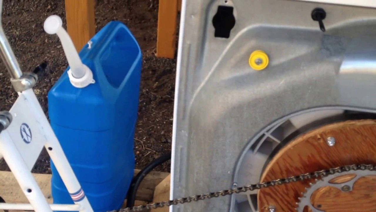 Bicycle powered clothes washer how to build clothes