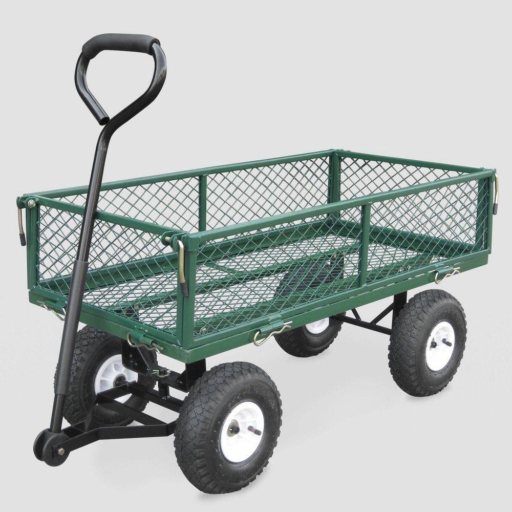 38 Garden Steel Cart Green Bond Garden Cart