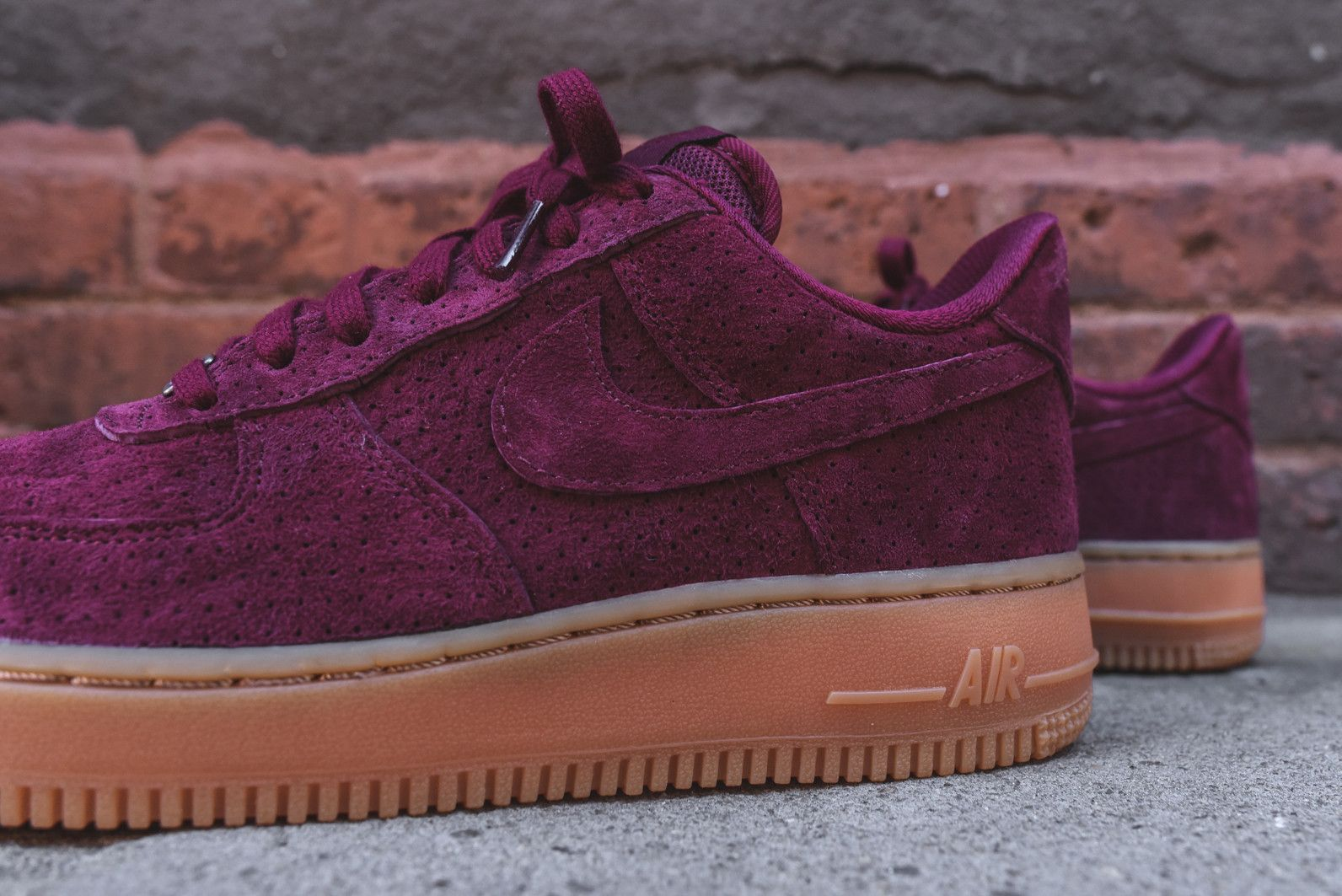 efa75f4c740c Nike WMNS Air Force 1  07 - Deep Garnet   Gum