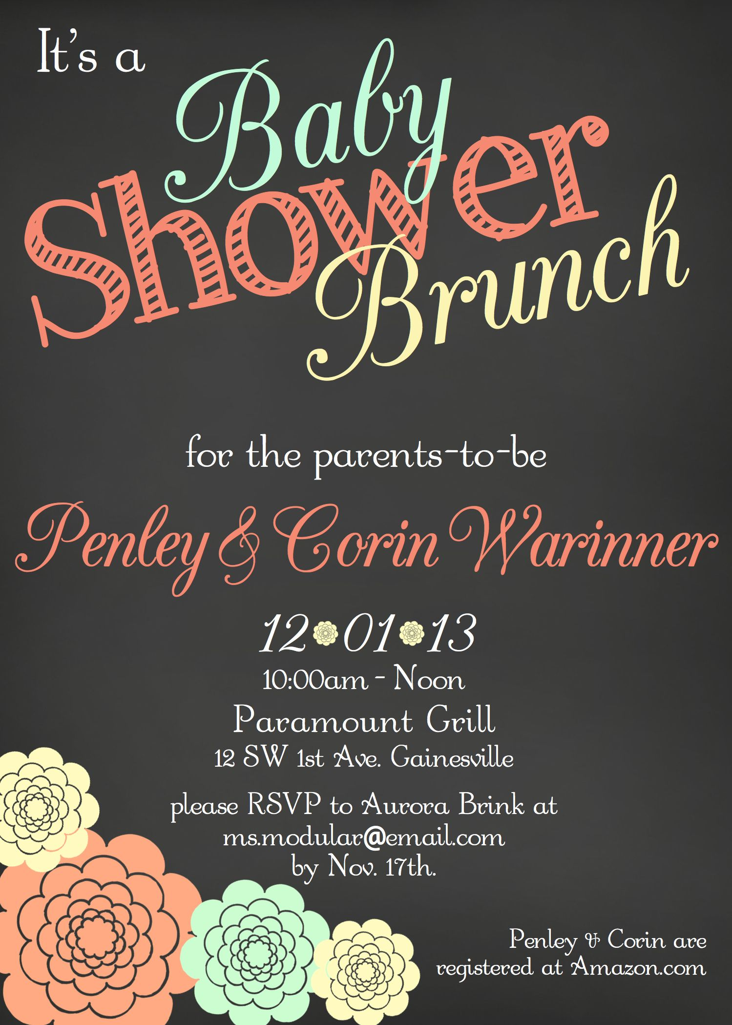 Tips Easy to Create Baby Shower Brunch Invitations Free Templates