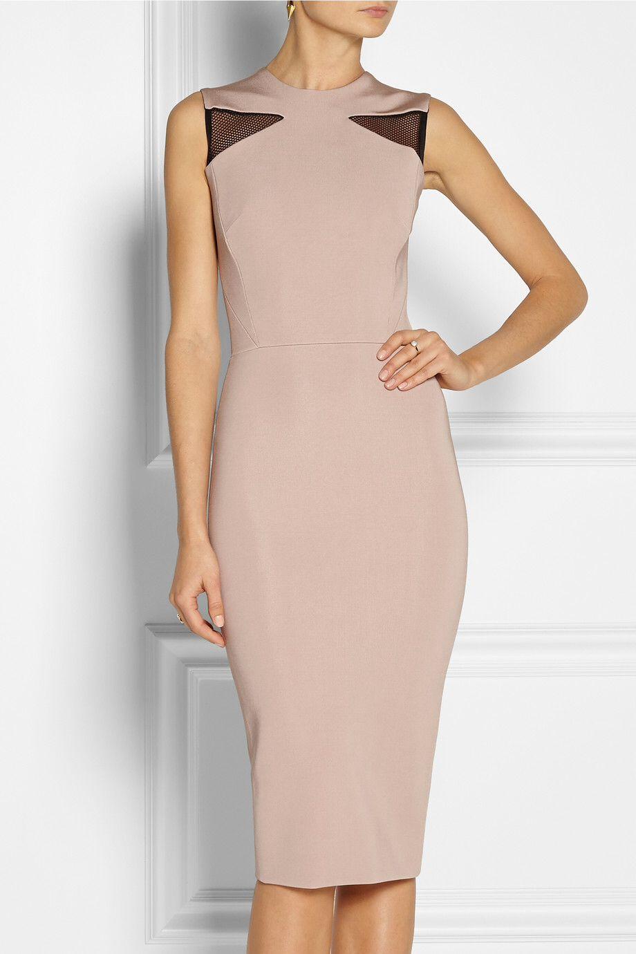 Cream Is A New Skin Ponte Dress Dresses Victoria Beckham Dress [ 1380 x 920 Pixel ]