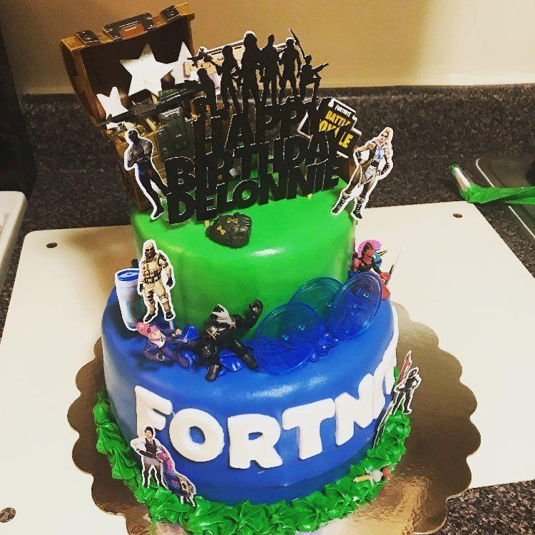 Fortnite Cake Topper Cake, Sunshine studio, Cake toppers