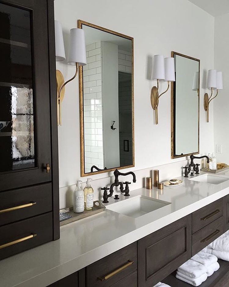 i love this bathroom the sconces the vanity the mirrors on custom bathroom vanity mirrors id=15131