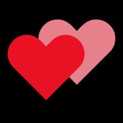 Two Hearts On Microsoft Windows 10 Fall Creators Update Heart Emoji Two Hearts Emoji