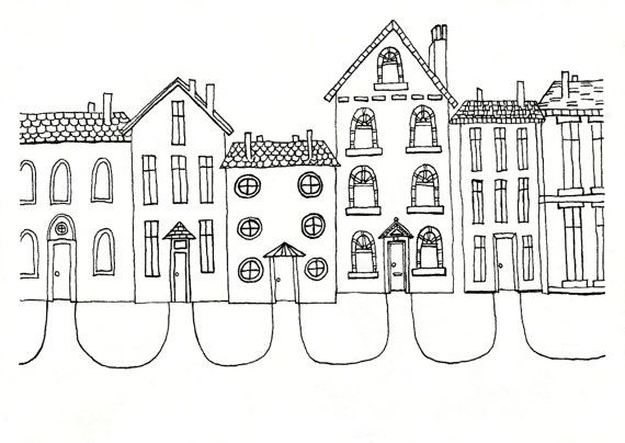 Prime Community By Frances Marin On Etsy Cute House Illustration Download Free Architecture Designs Scobabritishbridgeorg