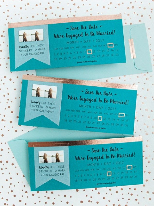 NEW, Free DIY Save The Dates With Calendar Stickers! Calendar
