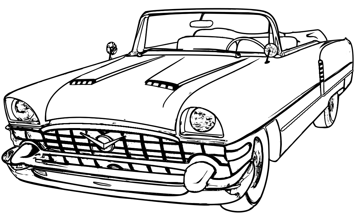 classic packard | adult coloring pages | Pinterest | Adult coloring