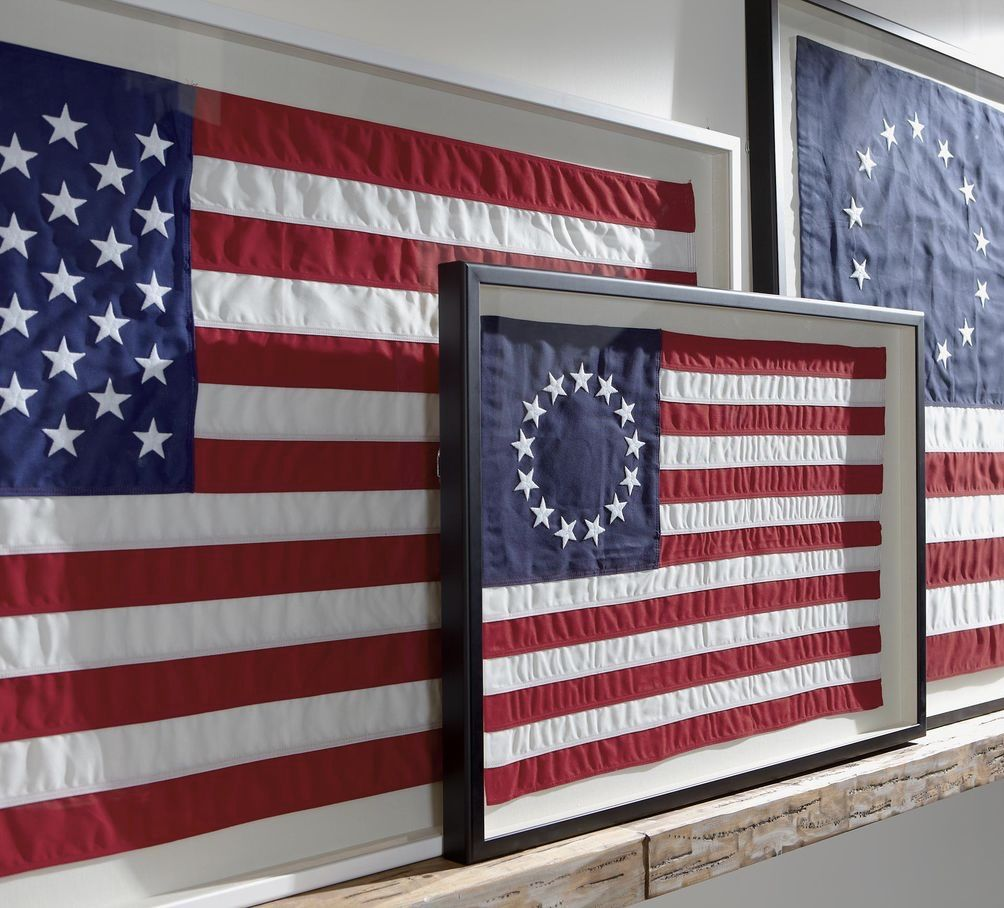 Happy Forth Of July Hanging Flag On Wall Flag Display Framed Flag