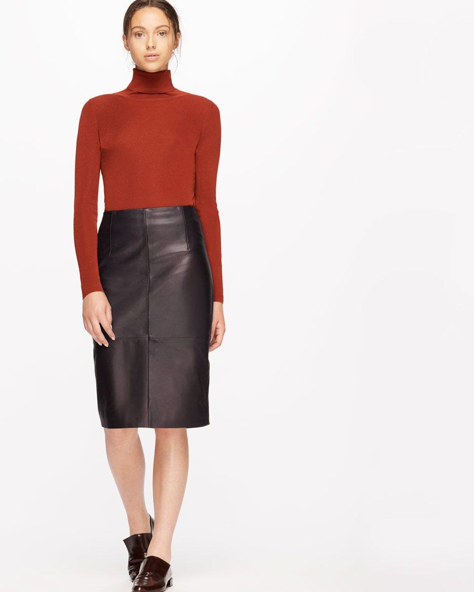 Leather High Waisted Pencil Skirt