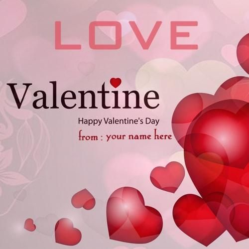 Happy Valentine Day Image With Name Edit Valentine Day Greeting