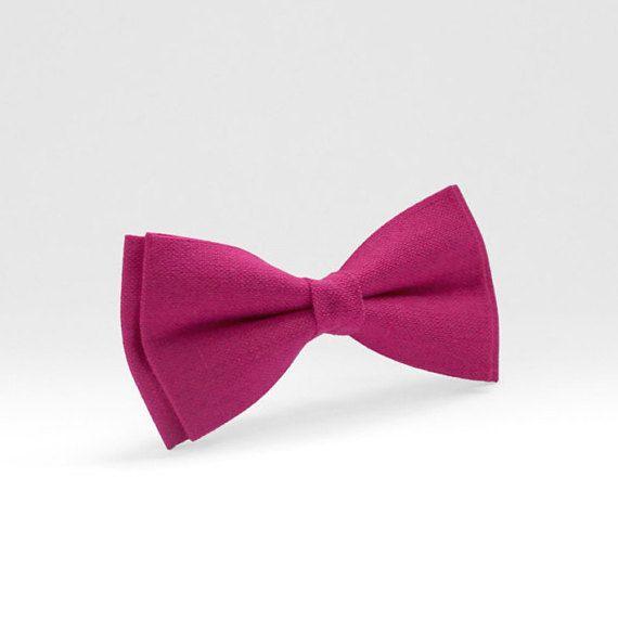 Fuchsia Mens Bow Tie Boys By Luwrine