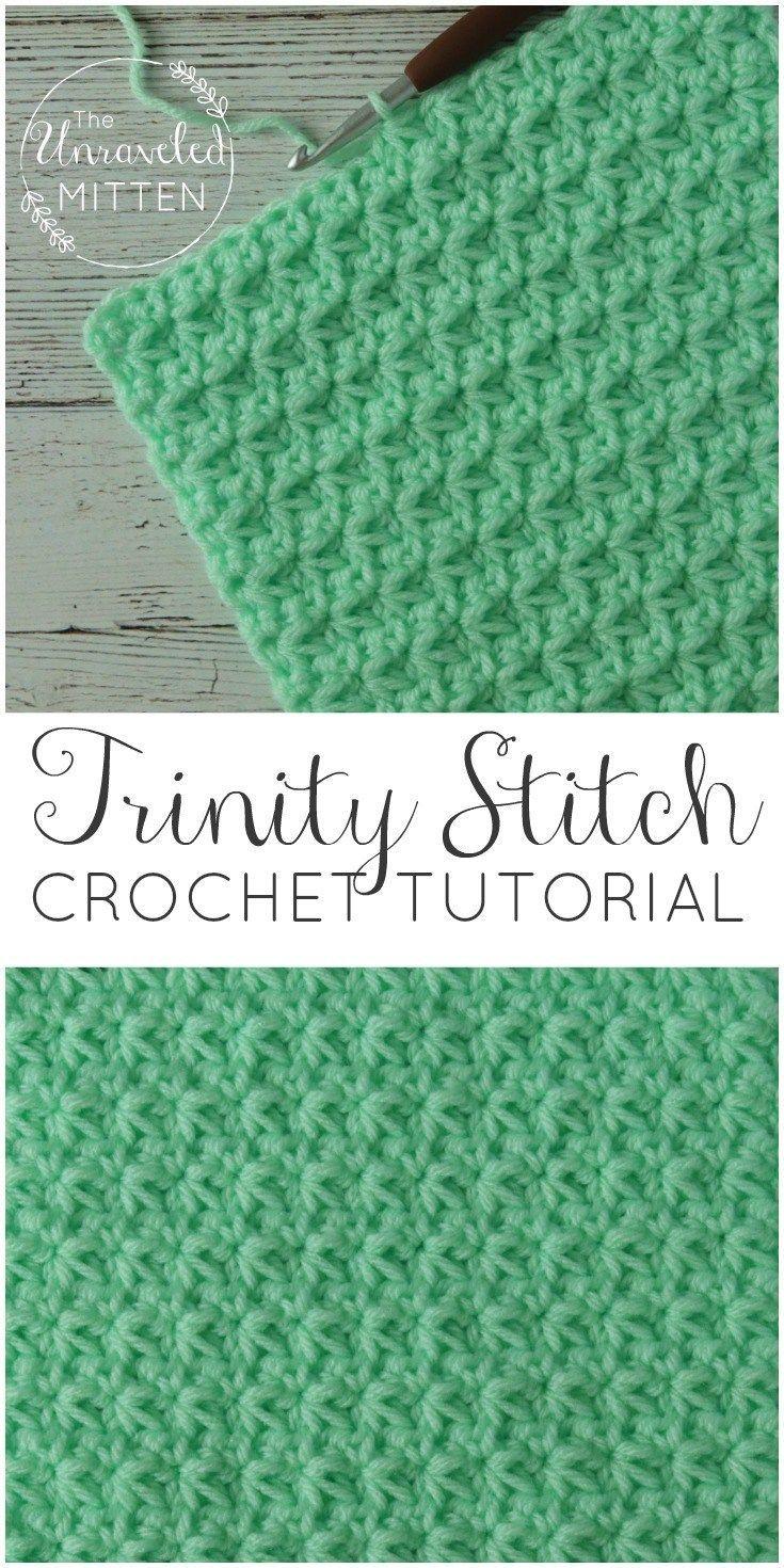 Crochet Stitch Tutorial: the Trinity Stitch #crochetstitches