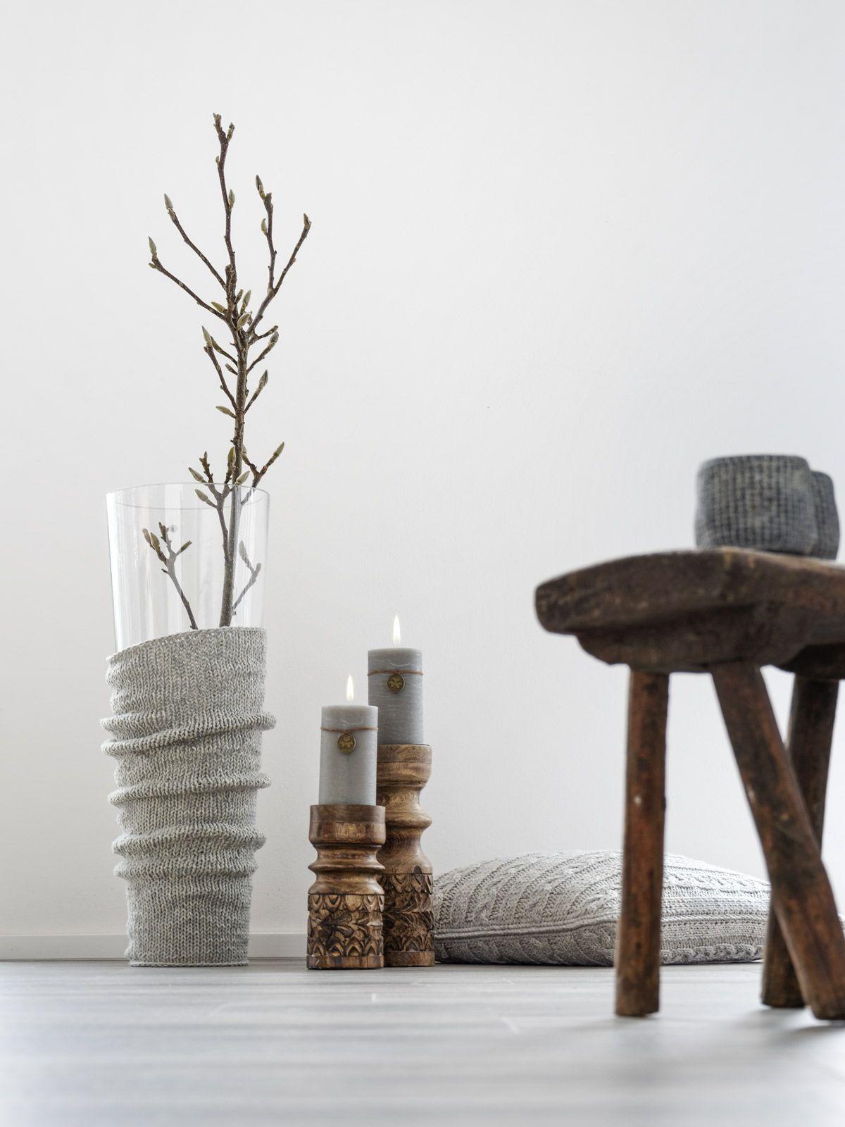DIY   lässiger Strick für die Bodenvase - mxliving