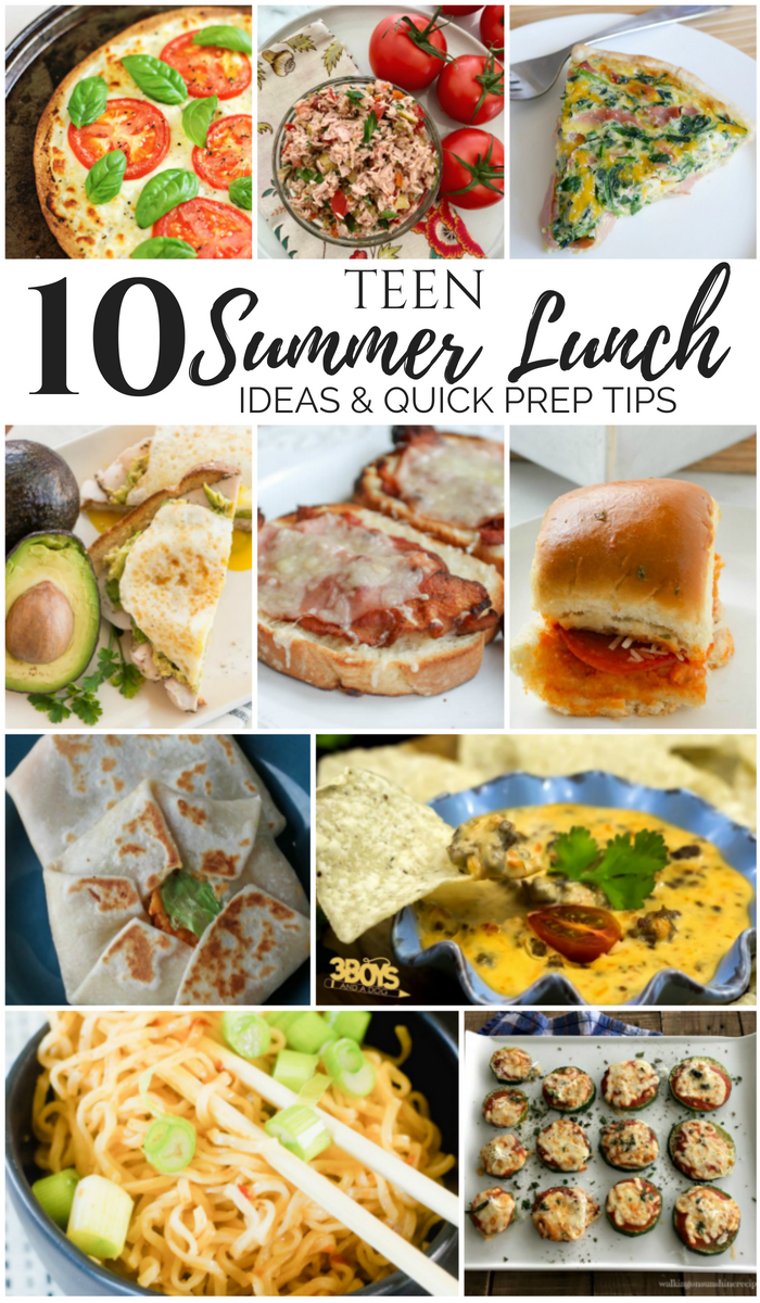10+ Teen Summer Lunch Ideas & Quick Meal Prep Tips- MM #211 images