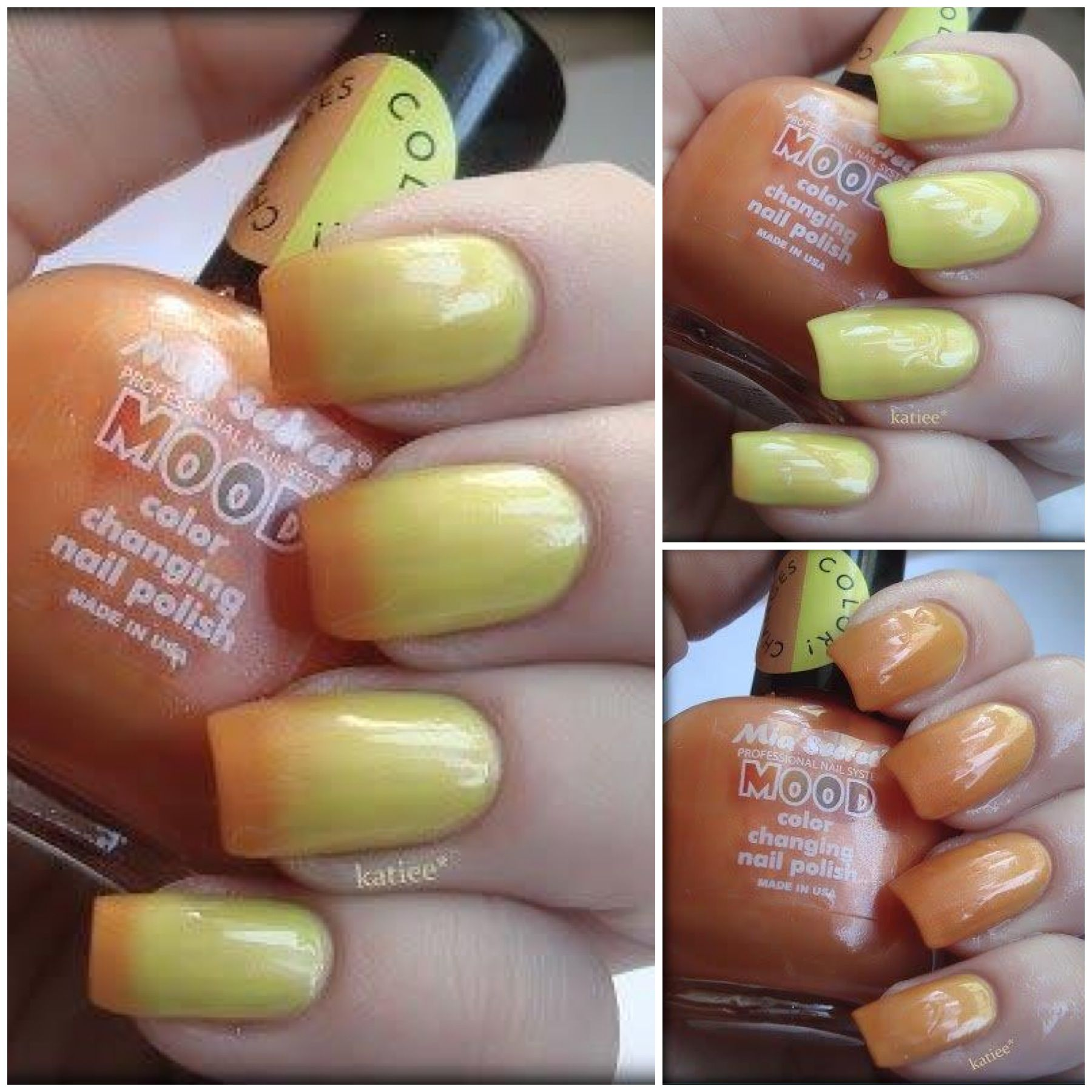 Mia Secret Papaya To Mango Mood Color Changing Nail Polish Miasecret