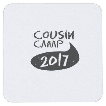 Family Reunions For Grandparents Camp Square Paper Coaster