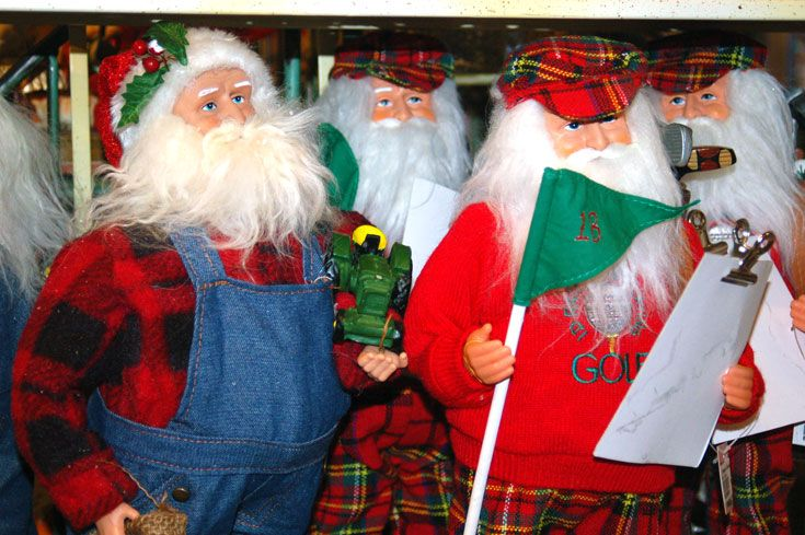 Santa golf holiday Christmas decoration figurines | Holiday ...