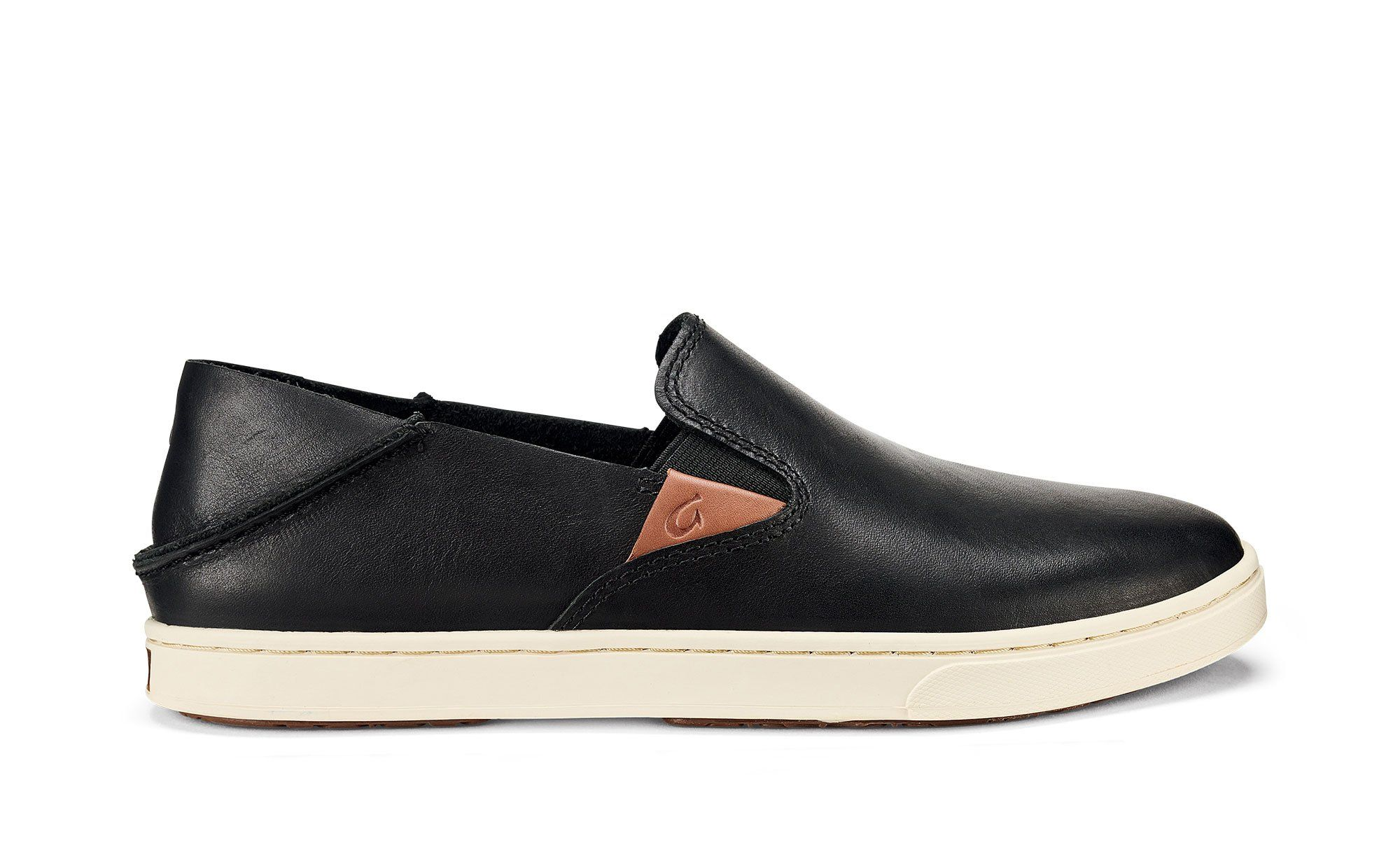 Olukai Pehuea Leather Black Women S Leather Sneakers In 2020 Leather Sneakers Women Leather Women Women Slip On Sneakers [ 1240 x 2000 Pixel ]