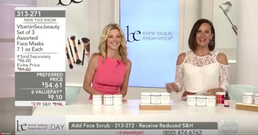 Brand ambassador Janet Gunn presenting face masks by VitaminSea