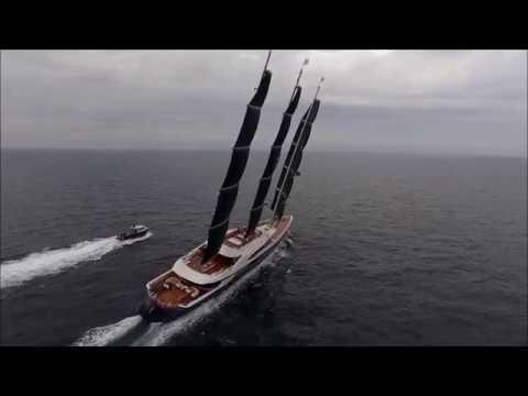 Oleg Burlakov and his Crazy 106 meter Sailing Yacht Black