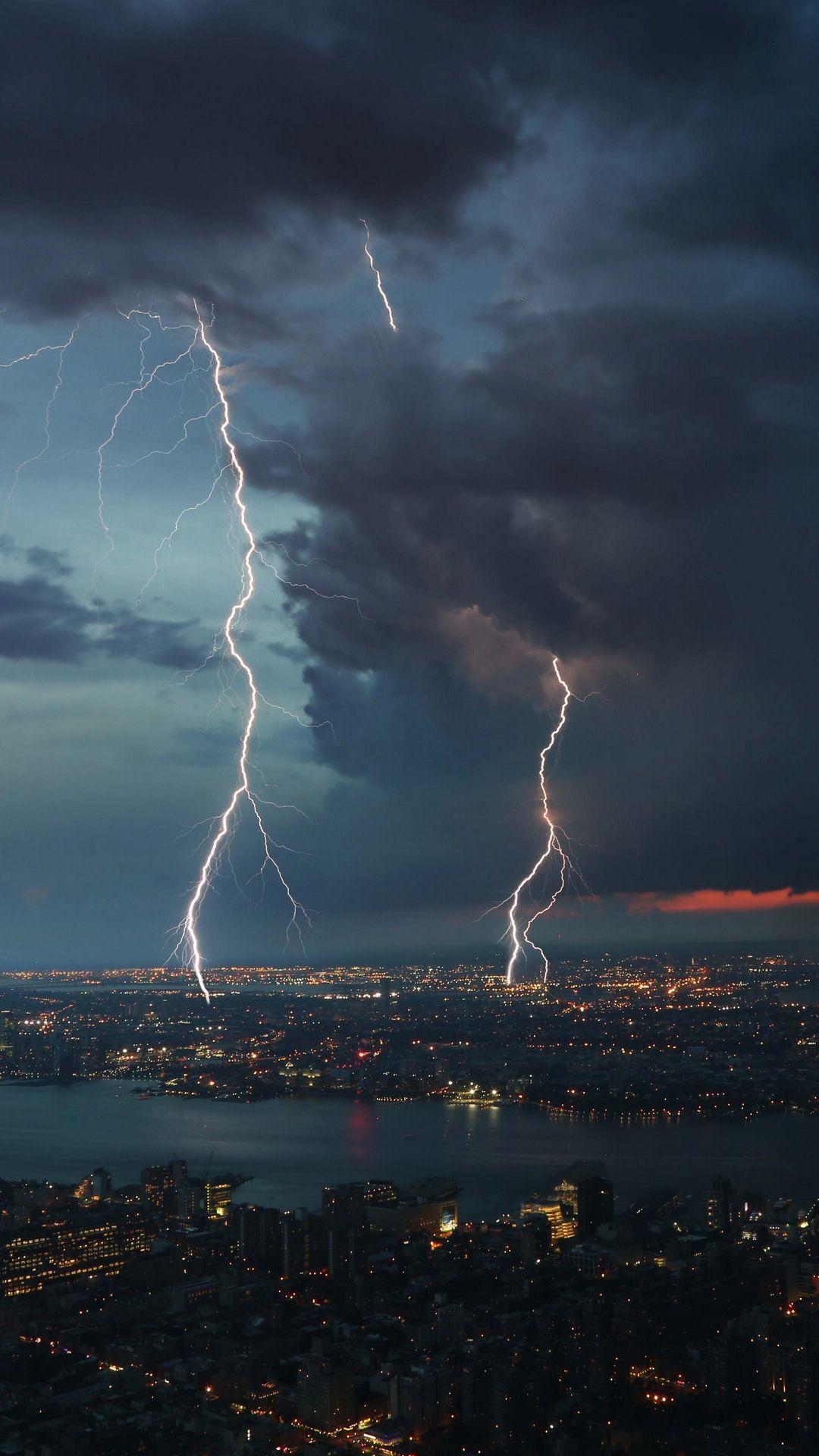 1080x1920 Wallpaper Thunderstorm City Sky Overcast Storm Wallpaper 4k Background Rain Wallpapers