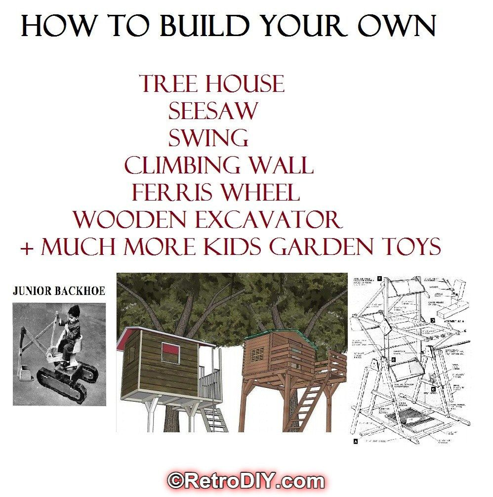 BUILD TREE HOUSE seesaw swing climbing frame wendy house garden toys ...