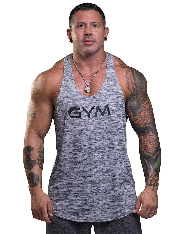 Men/'s Stripe Sleeveless Vest Summer Beach Training Gym Sports Tank Top T-Shirt