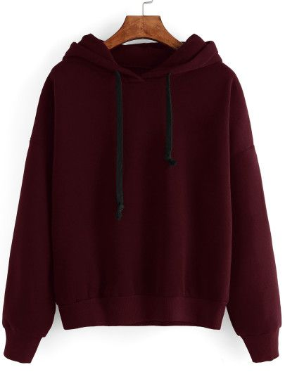 Sweat Manche Longue Capuche Avec Bordeaux Rouge French Shirt 2YDHW9IE