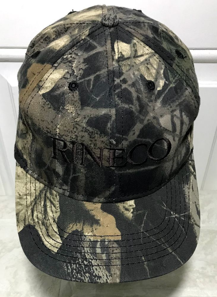 bd531e7fb7d Vintage Snapback Hat Camo Outdoor Cap Rineco Chemical OC USA  madeinusa   camo  hat  cap  vintage  hunting  rineco