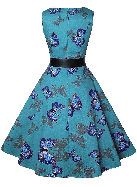 Ihot Vintage Tea Dress 1950 S Floral Spring Garden Retro Swing Prom Party Cocktail Party Dress For Women A Tea Dress Party Dresses For Women Vintage Tea Dress [ 1500 x 1100 Pixel ]
