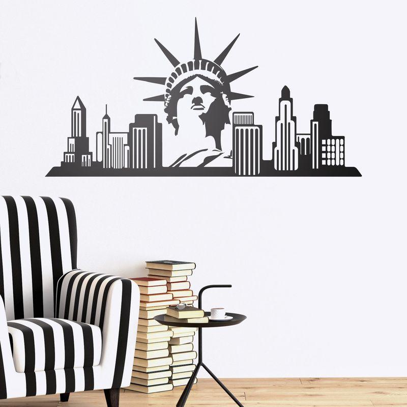 New York Skyline - VINILOS DECORATIVOS #decoración #academia #inglés ...