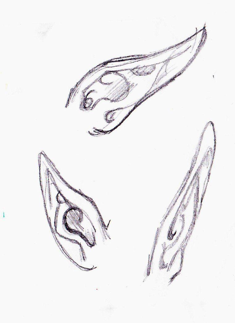Elf Ears How To Draw Ears Elf Ears Elf Drawings