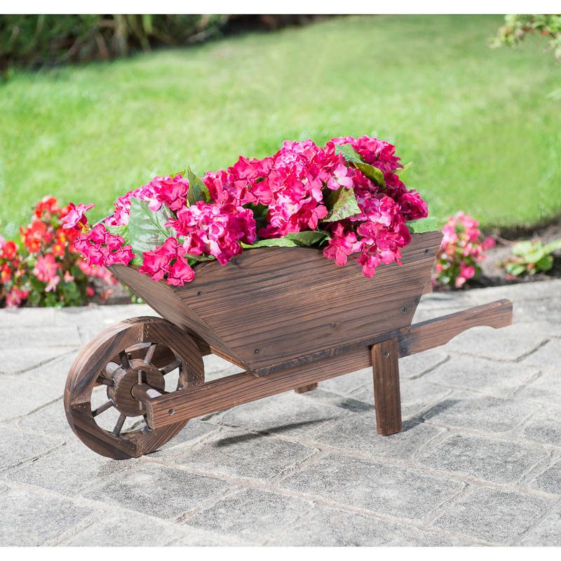 Burntwood Wooden Wheelbarrow Planter Carretillas Belenes Carretilla