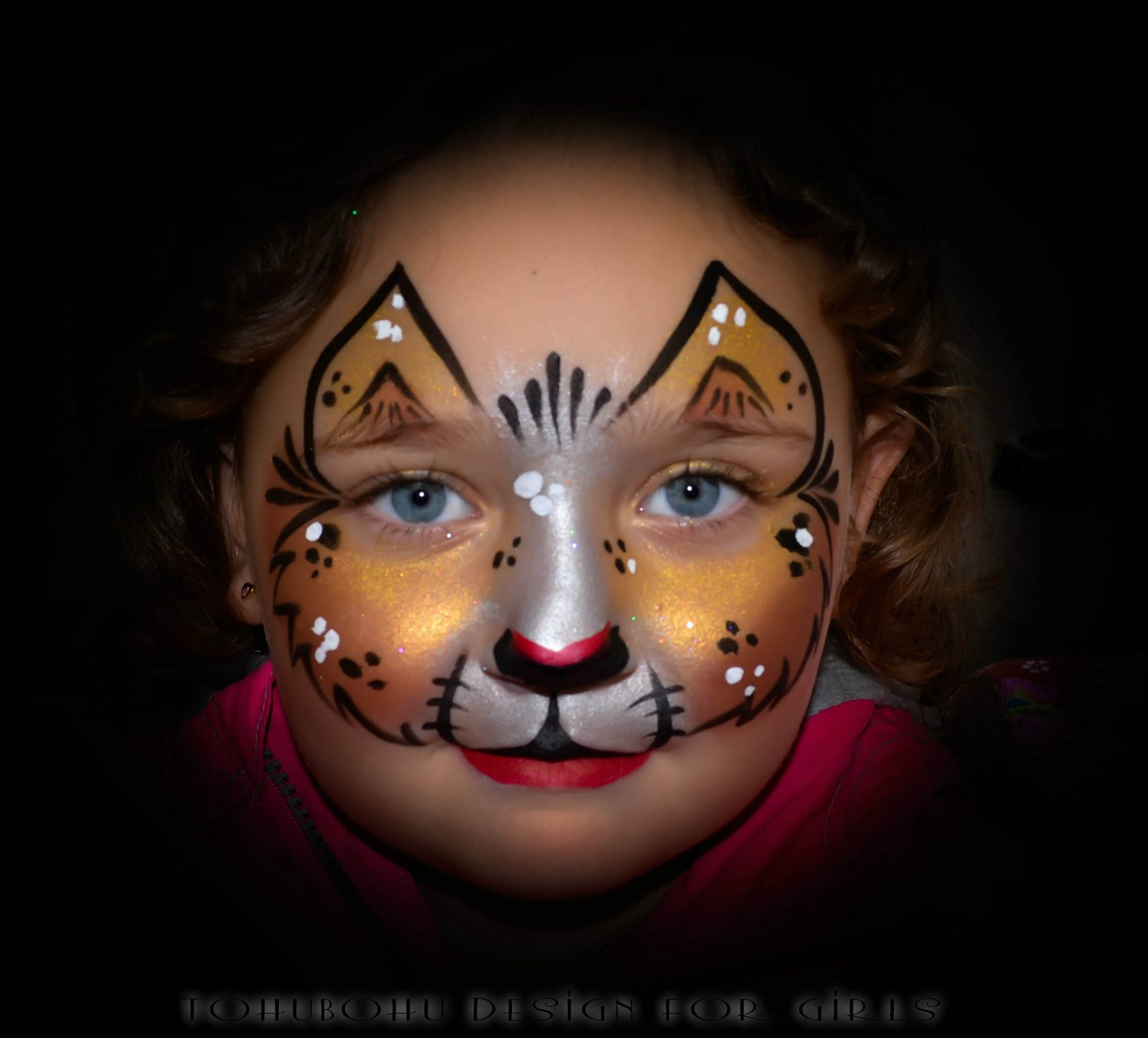 Kitty maquillage chats pour enfants sages make up for girls fast facepainting beaut - Maquillage pin up ...