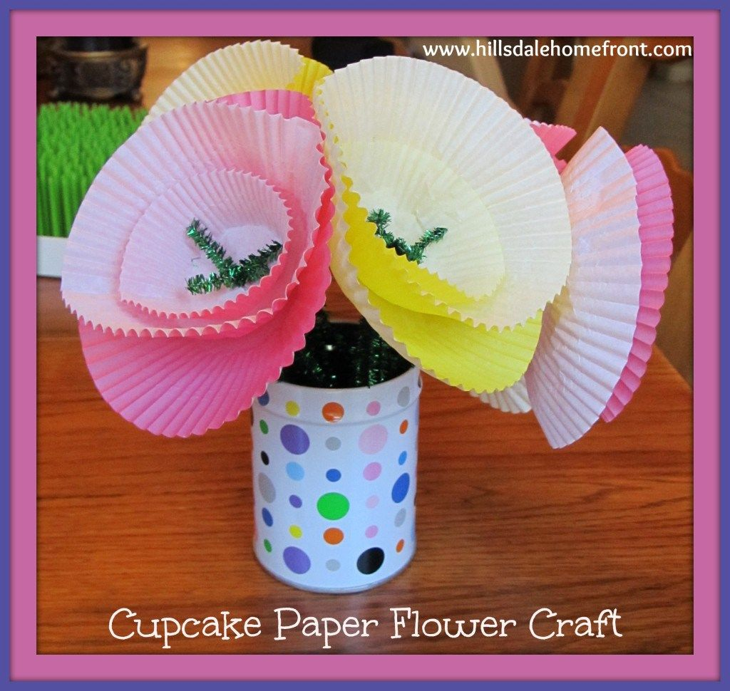 20 spring flower crafts for kids flower crafts crafts and flower 20 spring flower crafts for kids cupcake paper jeuxipadfo Gallery
