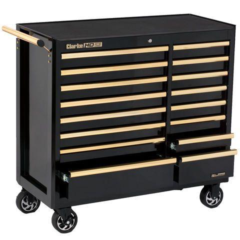 Clarke CBB226BGB HD Plus 16 Drawer Tool Cabinet (Black u0026 Gold) - Machine Mart - Machine Mart  sc 1 st  Pinterest & Clarke CBB226BGB HD Plus 16 Drawer Tool Cabinet (Black u0026 Gold ...