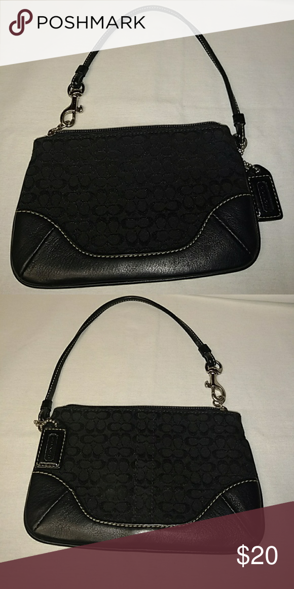 147c02304676 Coach mini purse Black leather n cloth mini purse size (6x4). Coach Bags  Mini Bags