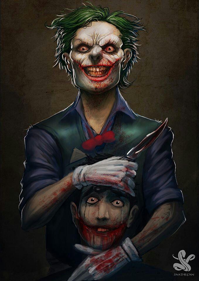 the joker fan art it s very evil and scary geek art pinterest