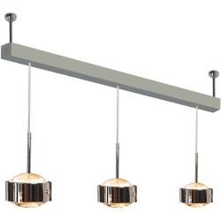 Photo of Top Light Puk Maxx Choice Drop + pendant light 3 heads anthracite-chrome 65cm Led Top Light