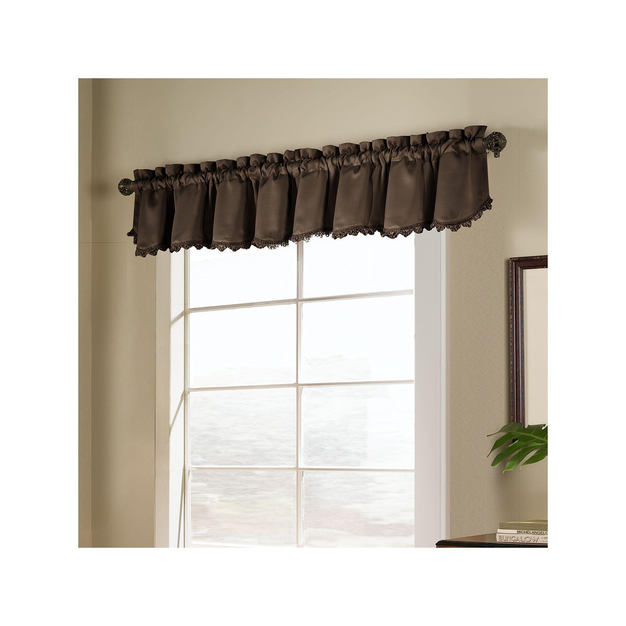United Curtain Co Blackstone Blackout Window Valance Curtains