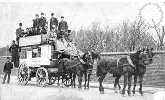 Liverpool History Liverpool History L22 Waterloo Horse Drawn Bus Park House Crosby Road 1880 Liverpool History Liverpool Home Liverpool