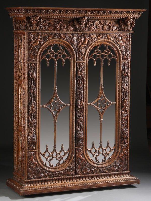 635 A Fine Italian Renaissance Revival Carved Armoir Lot 635 With Images Renaissance Furniture Renaissance Revival Gothic Furniture