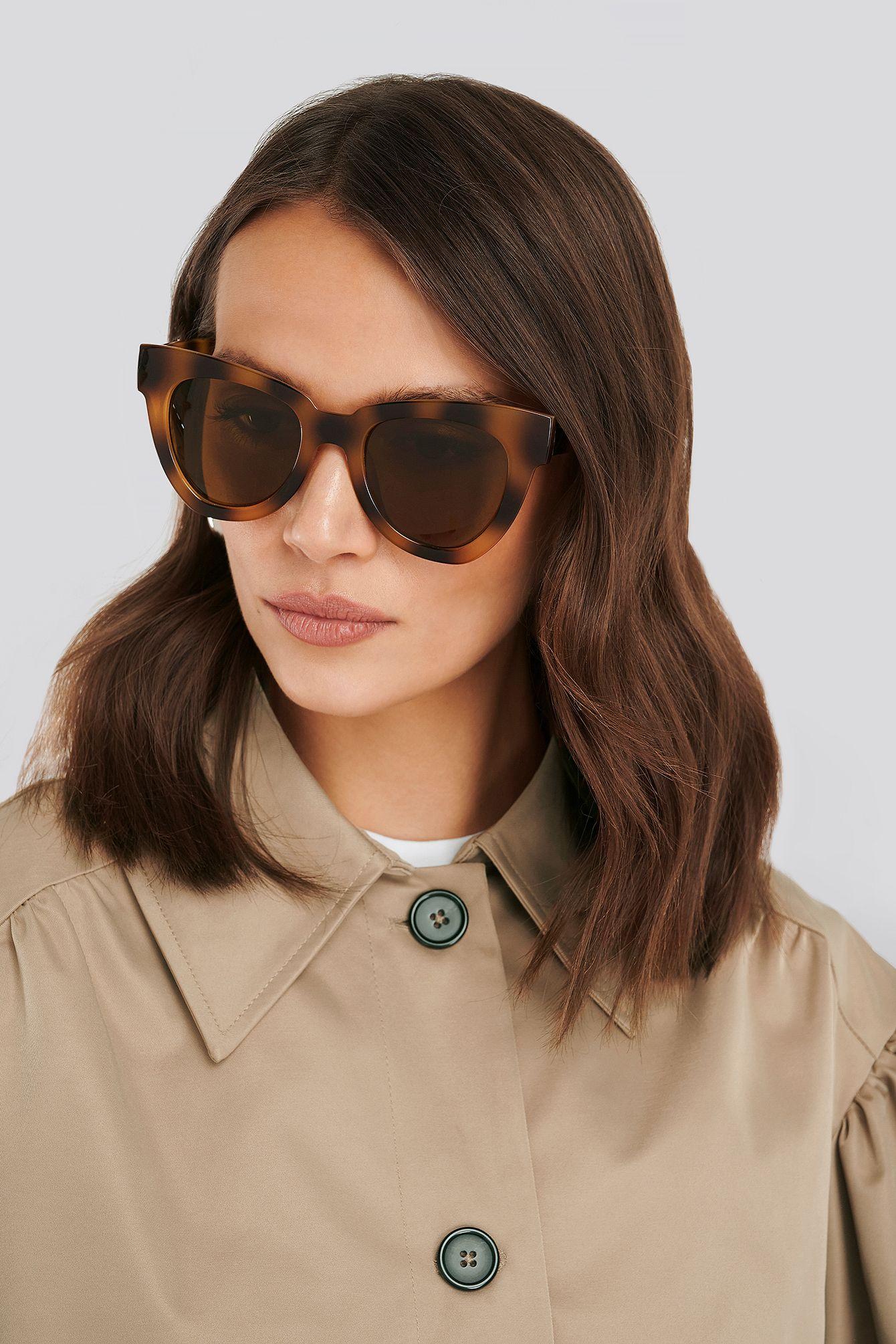 Oversize Chunky Cateye Sunglasses Braun