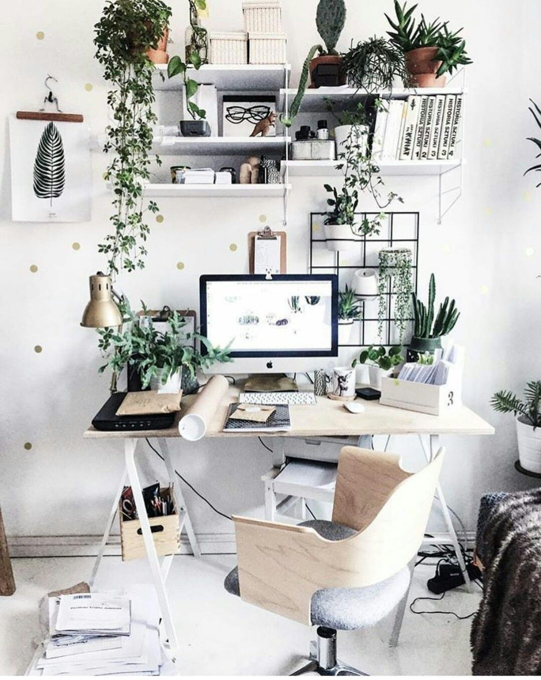 Home zimmer design-ideen plant inspired office  home offices  pinterest  home desk and