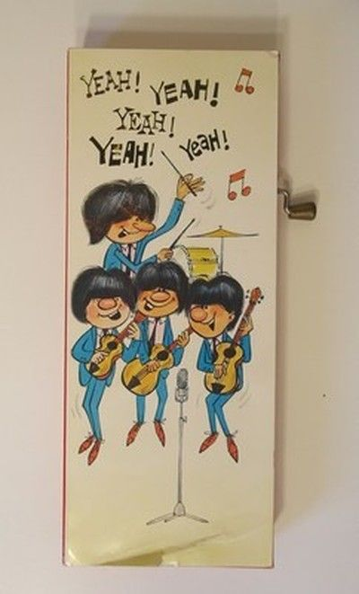 1960s very rare unlicensed beatles music box birthday greeting 1960s very rare unlicensed beatles music box birthday greeting card unlike todays cards hand operated vintage birthday cards pinterest birthday m4hsunfo