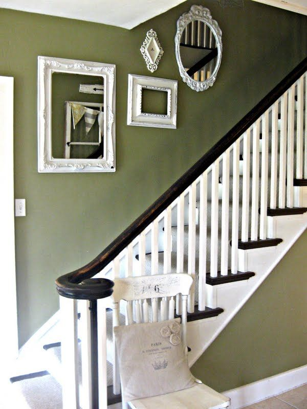 Great Mirrors On A Stairway Wall. Good Looking