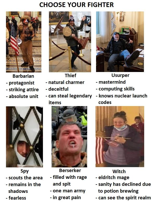 Choose Your Fighter 2021 Storming Of The United States Capitol In 2021 Protagonist Barbarian Charmer