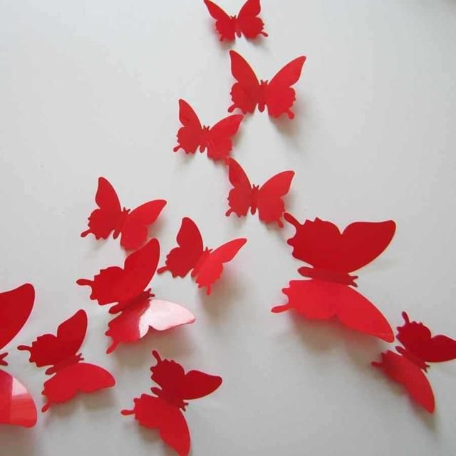 Morden 3D Butterfly Wall Stickers DIY Home Decor Stickers for Curtain Decoration Adesivo de Parede Plastic & Morden 3D Butterfly Wall Stickers DIY Home Decor Stickers for ...